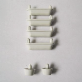 Toilet Seat Replacement White Buffer Pack - 03062275
